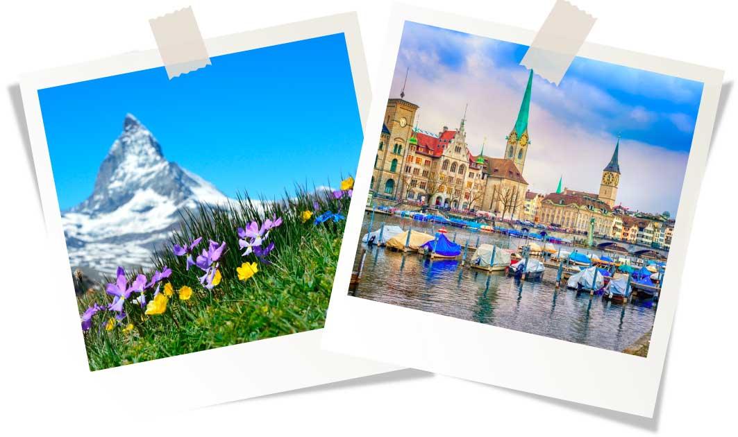 Швейцария весной