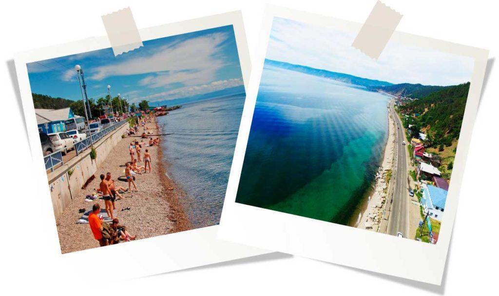 Отдых на Байкале 2020 Пляж поселка Листвянка