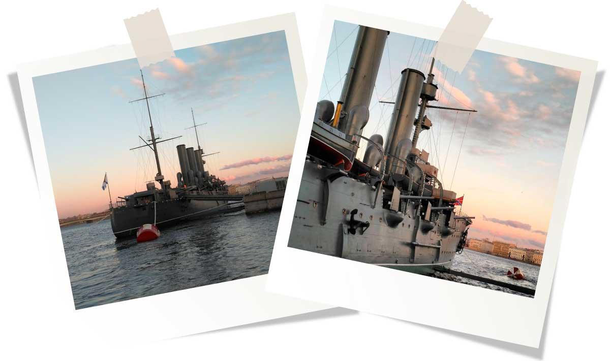 Достопримечательности Санкт-Петербурга: Крейсер «Аврора»