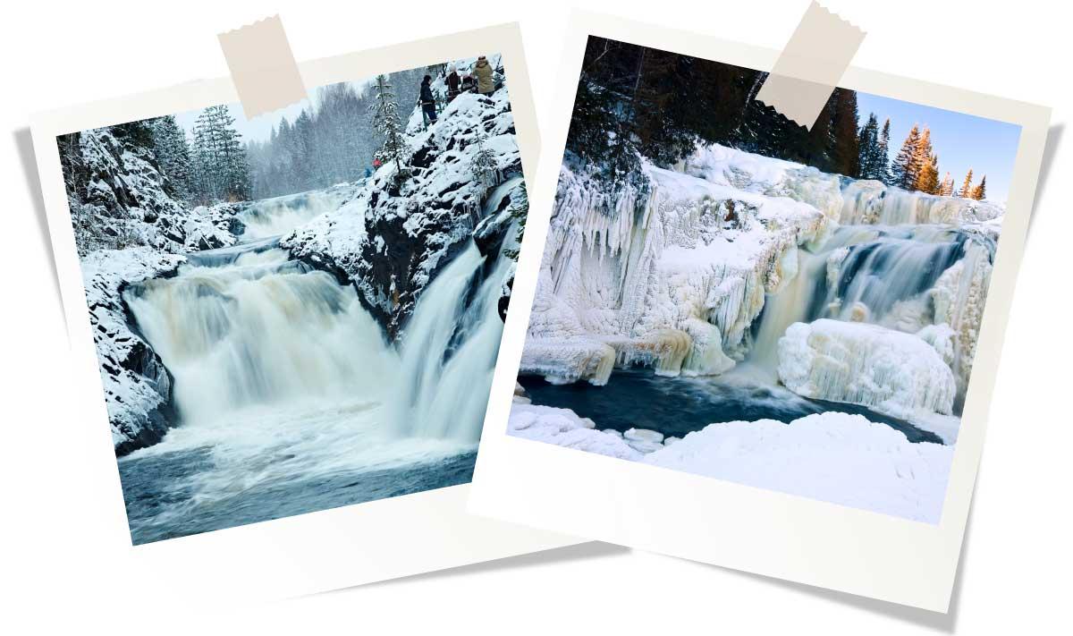Отдых в Карелии зимой: Водопад Кивач