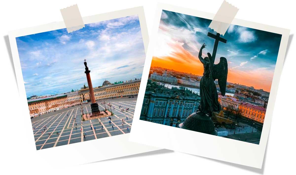 Достопримечательности Санкт-Петербурга: Дворцовая площадь и Александровская колонна