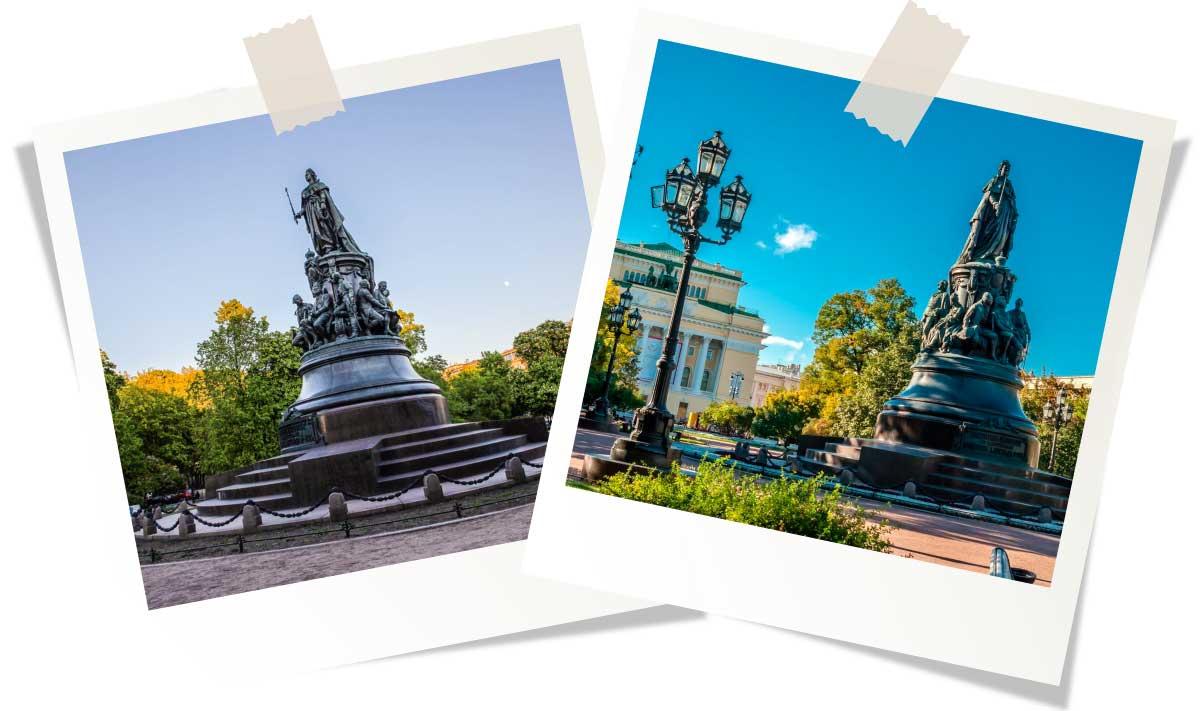 Памятник Екатерине II и Екатеринский сад