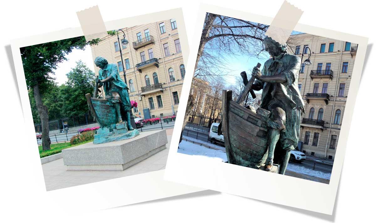 Достопримечательности Санкт-Петербурга: Памятник Петру I-плотнику